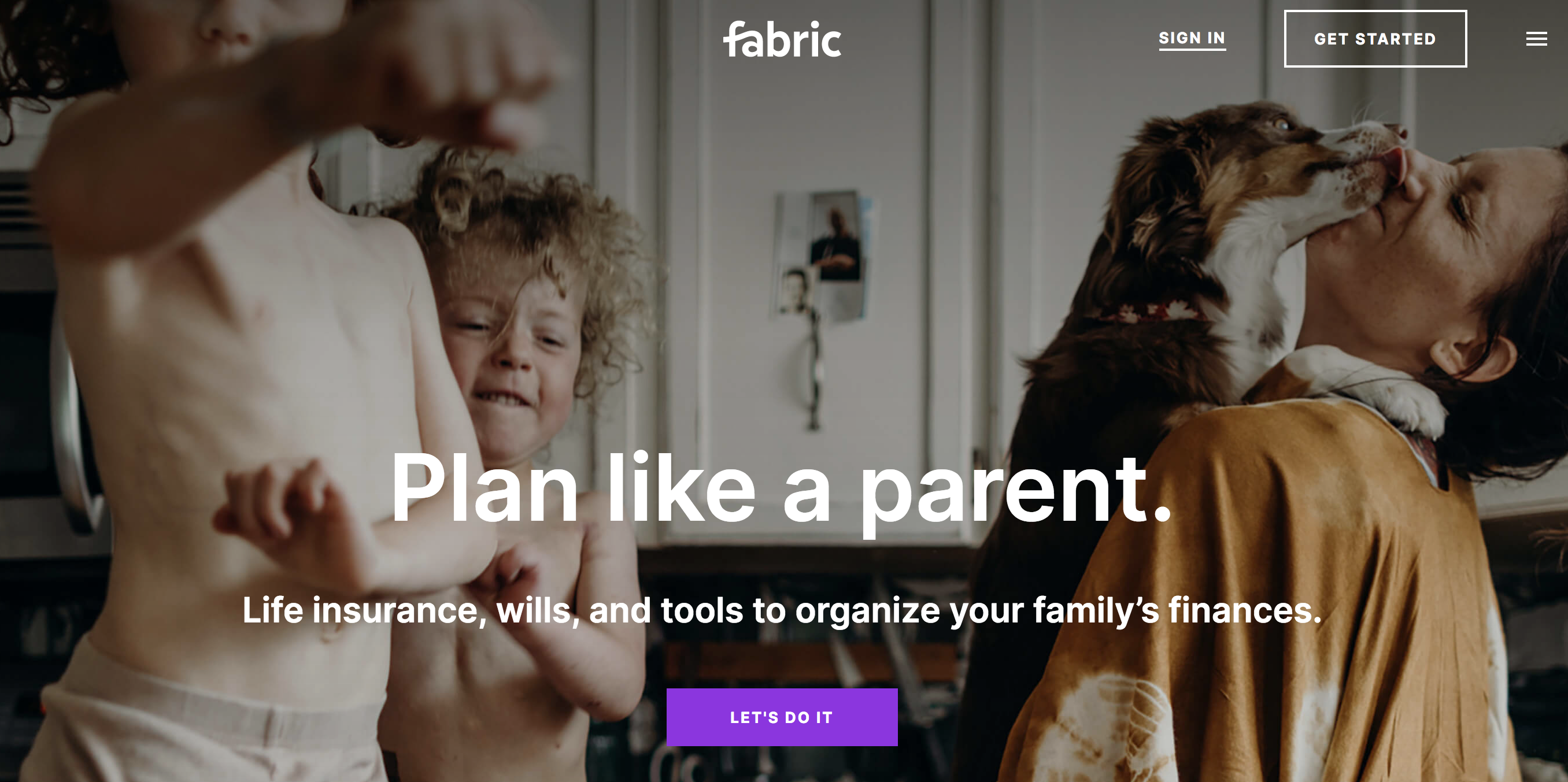 Fabric's New App Helps Parents with Wills, Life Insurance & Shared Finances