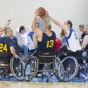 Basketball game in wheelchairs