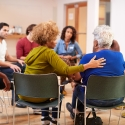 People attending an addiction counseling session